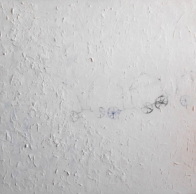 Flying HousesMixed media on canvas, 2013 cm 120x120Ha partecipato alla LONDON BIENNALE 2015, Chelsea Old Town HallGennaio 2015