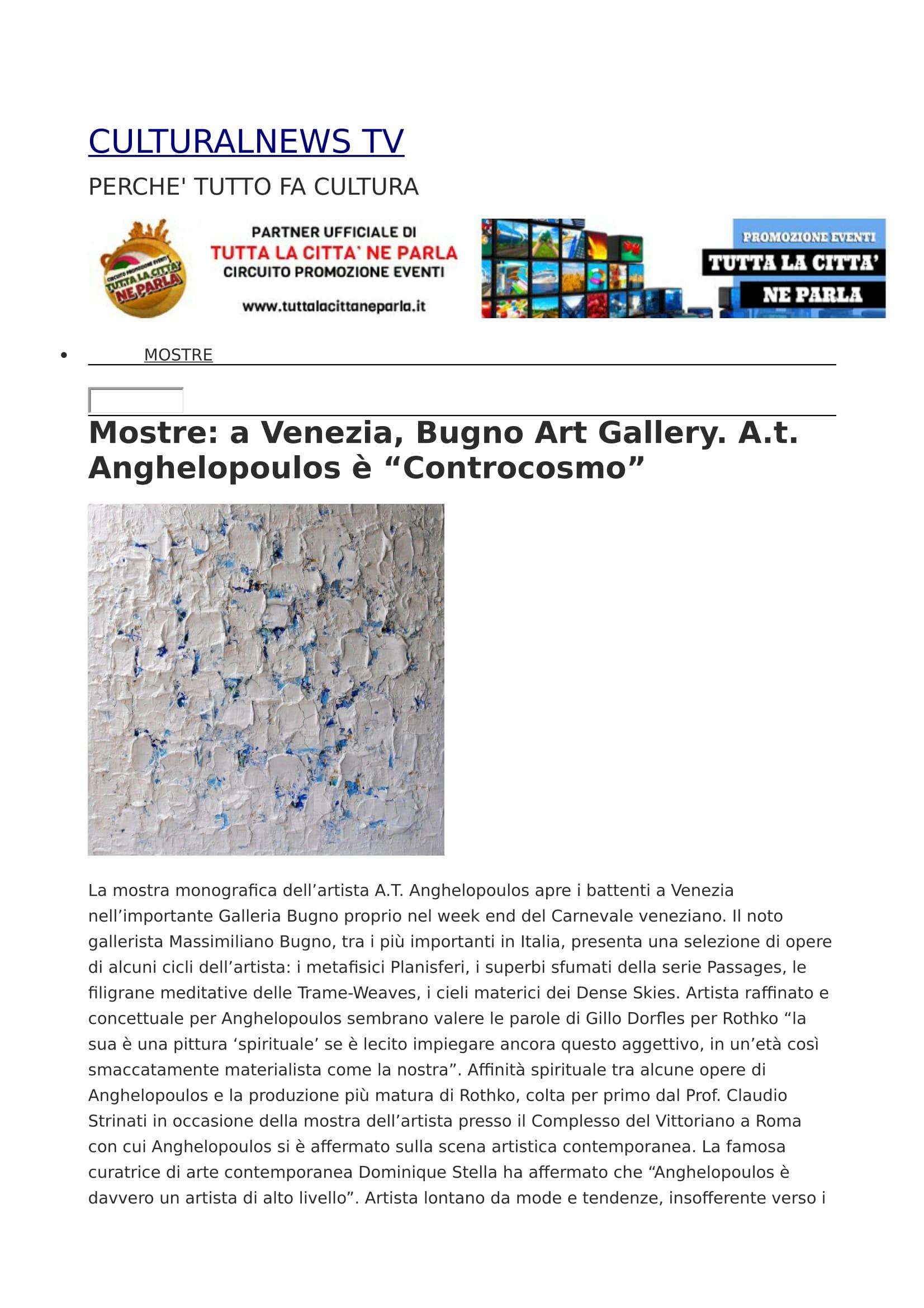 CULTURALNEWS TV_mostra Venezia-1
