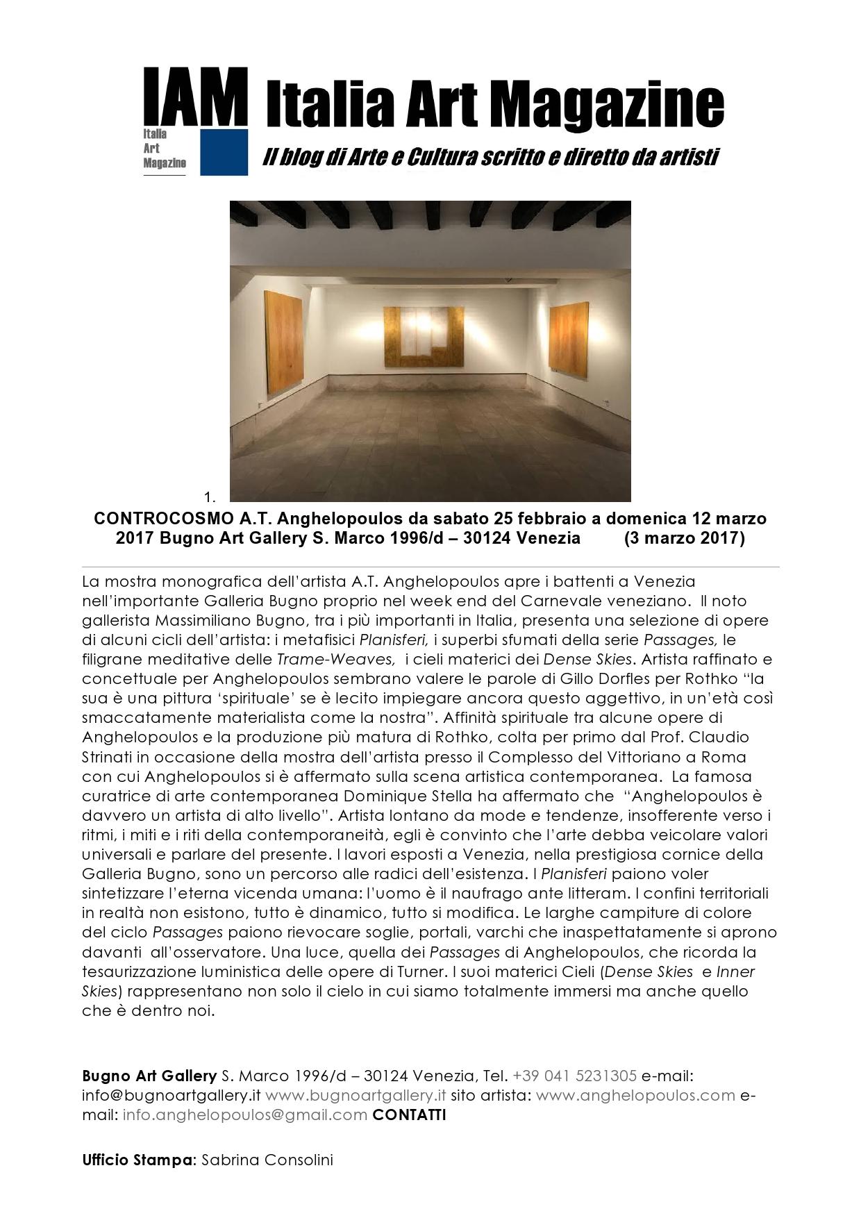 IAM.Italian Art Magazine CONTROCOSMO A.T.-page0001